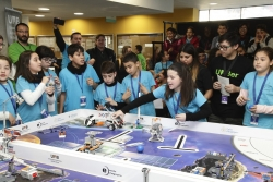 nat de 6è de l'escola Marinada al torneig First Lego League (Font: Escola Marinada)