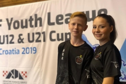 Teresa López i Bernat Vilà en l'Open Youth League (Foto: Club Karate Montornès)