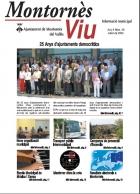 Enllaç amb el butlletí d'informació municipal Montornès Viu - Número 28 - Juliol 2004