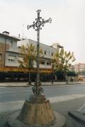 La Creu de Terme està situada a la confluència entre l'avinguda de l'Onze de Setembre i el carrer del Riu Mogent
