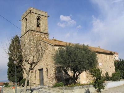 Façana principal de l'església de Sant Sadurní
