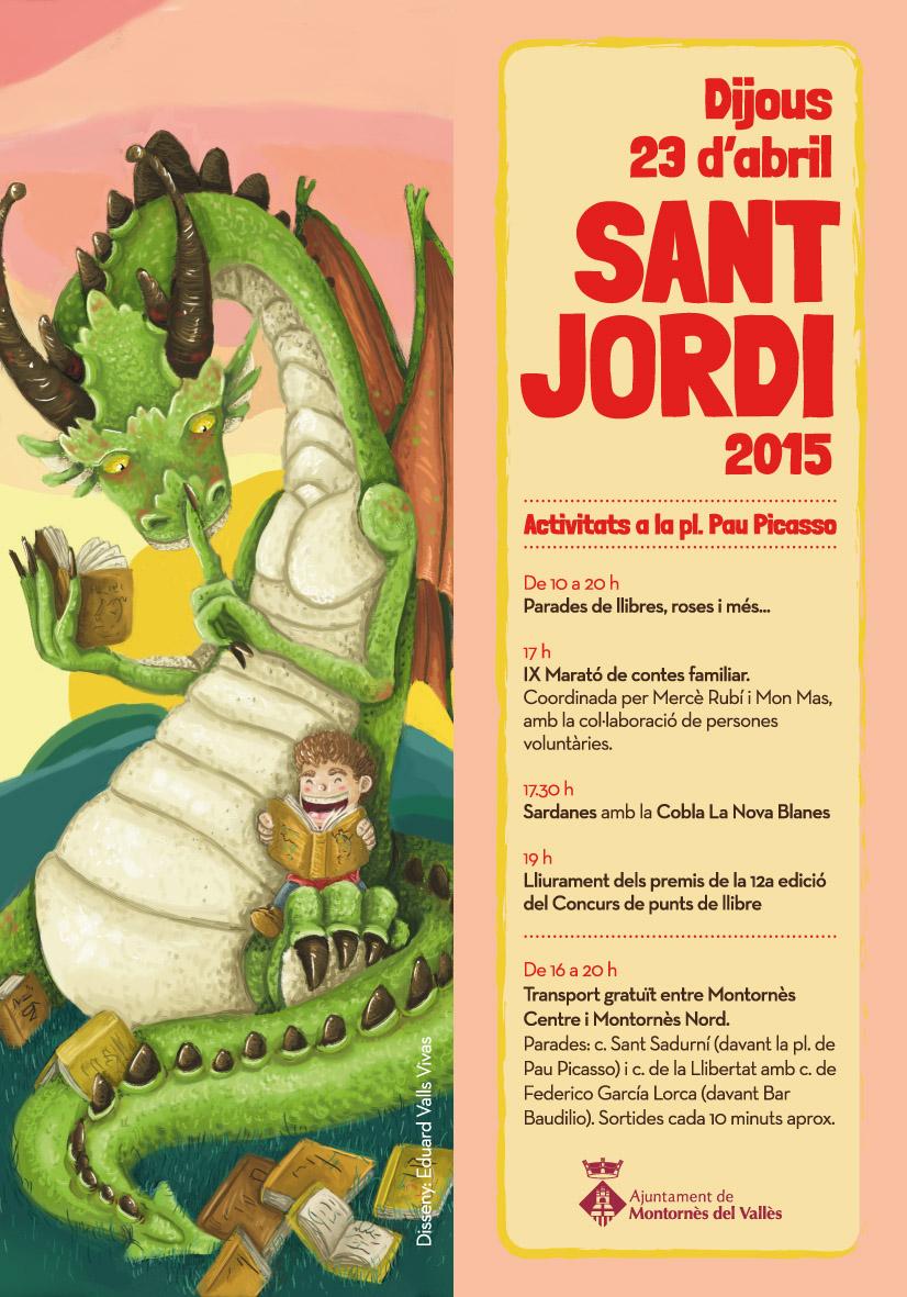 Punt de llibre amb les activitats de Sant Jordi (Autor: Eduard Valls Vivas)