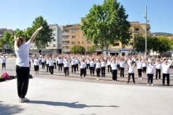 28/05/2015 - Sessió de gimnàstica dels casals de la Gent Gran a la plaça de Pau Picasso (Dia Internacional d'acció per la salut de les dones)
