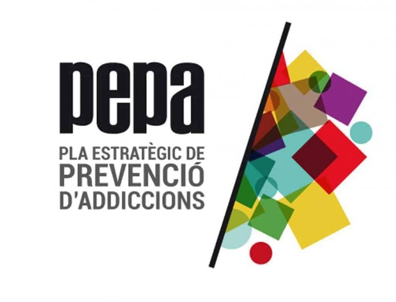 Logotip del Pla Estratègic de Prevenció d'Addiccions (PEPA)