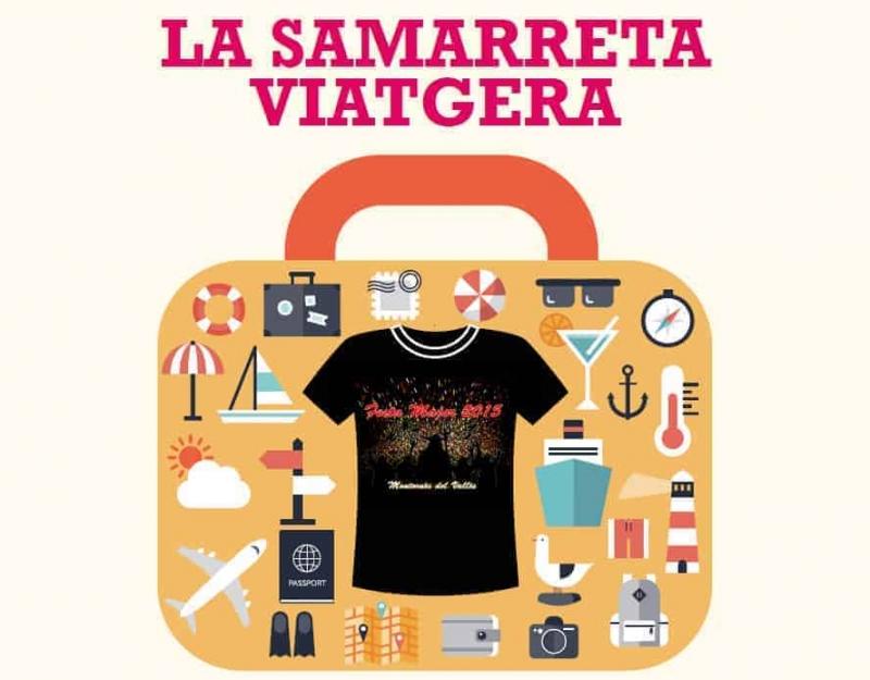 """Imatge de promoció del concurs """"La Samarreta Viatgera"""" 2015"""