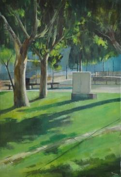 Quadre guanyador del concurs de pintura ràpida, obra de Ricardo Terraza