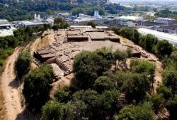 Vista aèria de l'assentament romà (Foto ICAC)