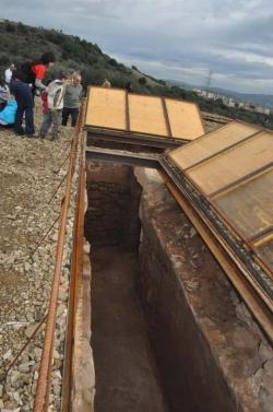 Una de les dues cisternes de recollida d'aigua descobertes