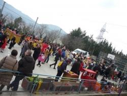 Carnaval infantil al pati de l'Escola Marinada
