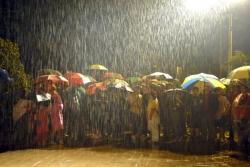 L'inici de la Festa marcat per la pluja