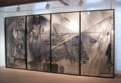 """Exposició """"Trajectes"""". Selecció d'obres del fons municipal d'art a la Galeria Municipal de Can Xerracan"""