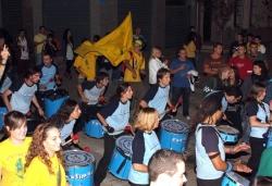 Rockmeria de la Penya Pere Anton acompanyats de la Batukada Festimbal