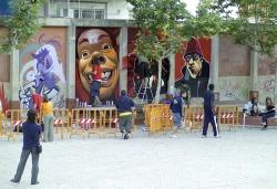 Art al carrer. Exhibició de grafits.