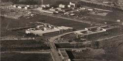 Vista aèria de les primeres fàbriques de Concentració industrial Vallesana, 1963. C.I.V.