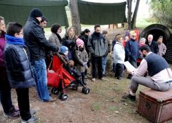 30-11-2013 - Visites teatralitzades al refugi antiaeri Ca l'Arnau