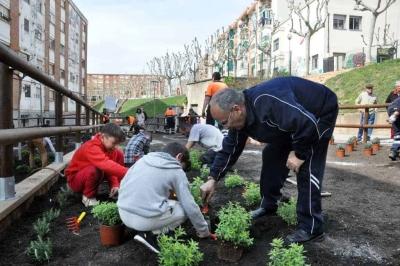 Un moment de la plantada popular del 4 d'abril