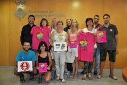 07/09/2016 - Entitats i representants municipals durant la presentació de la Festa Major 2016 i la Campanya No és No