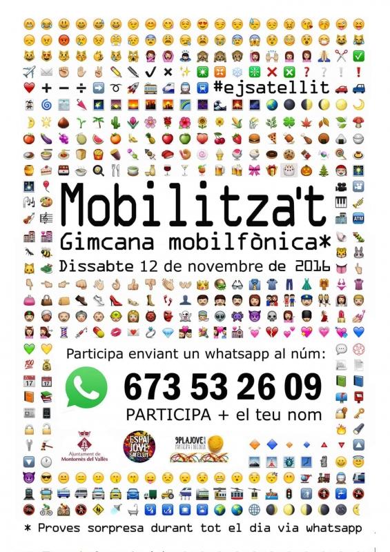 Cartell Gimcana Mobilitza't 2016