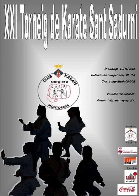 Cartell XXI Torneig de Karate Sant Sadurní