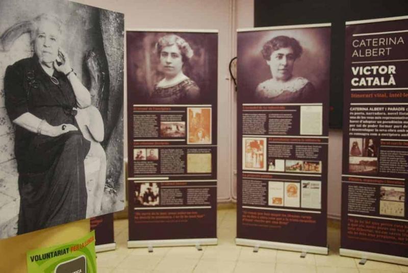 """Exposició """"Caterina Albert - Víctor Català: Itinerari vital, intel·lectual i literari"""" a Montornès"""