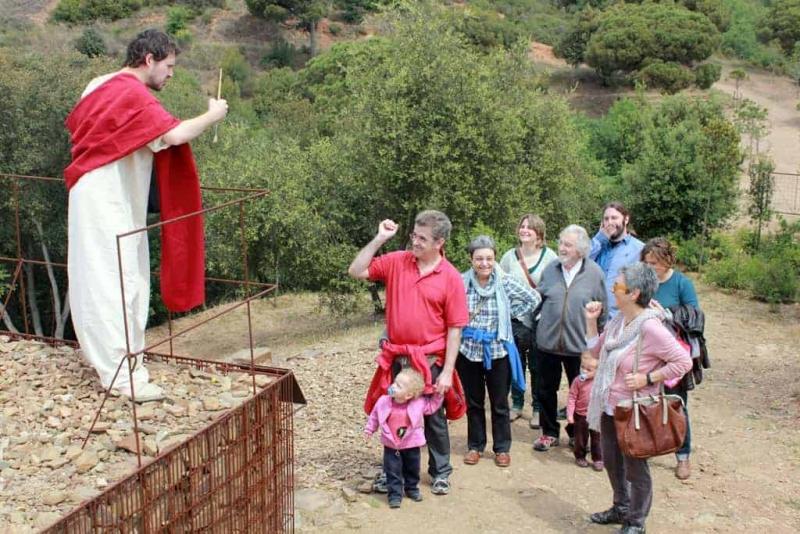 Visita teatralitzada al jaciment Mons Observans