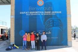Alguns participants en el Fem els deures, a la Ciutat Esportiva Dani Jarque