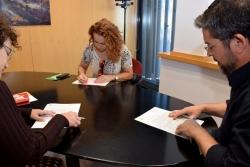 Signatura del conveni de col·laboració amb el Circ Raluy