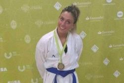 Naiara Moreno del Club Karate Montornès al Campionat d'Europa Universitari (Font: Xavier Talavera)