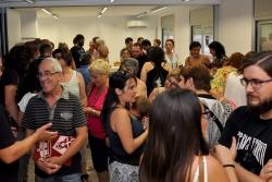 Representants d'associacions socioculturals durant la presentació de l'Hotel d'Entitats (juliol de 2016)