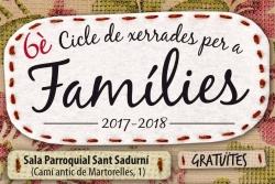 Cartell del 6è Cicle de Xerrades per a Famílies