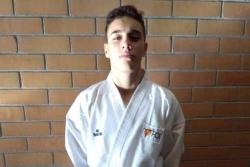 Sergio Hernández, segon al Campionat d'Espanya de Karate Kumite Cadet (Font: Karate Montornès)