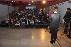 Un centenar de persones han assistit a l'acte central del 25N a Montornès