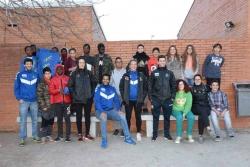 Joves del programa RAI-ESO i esportistes del Fraikin i KH7 BM Granollers