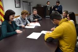 Signatura del conveni de suport amb el Club Karate Montornès per Tòquio 2020