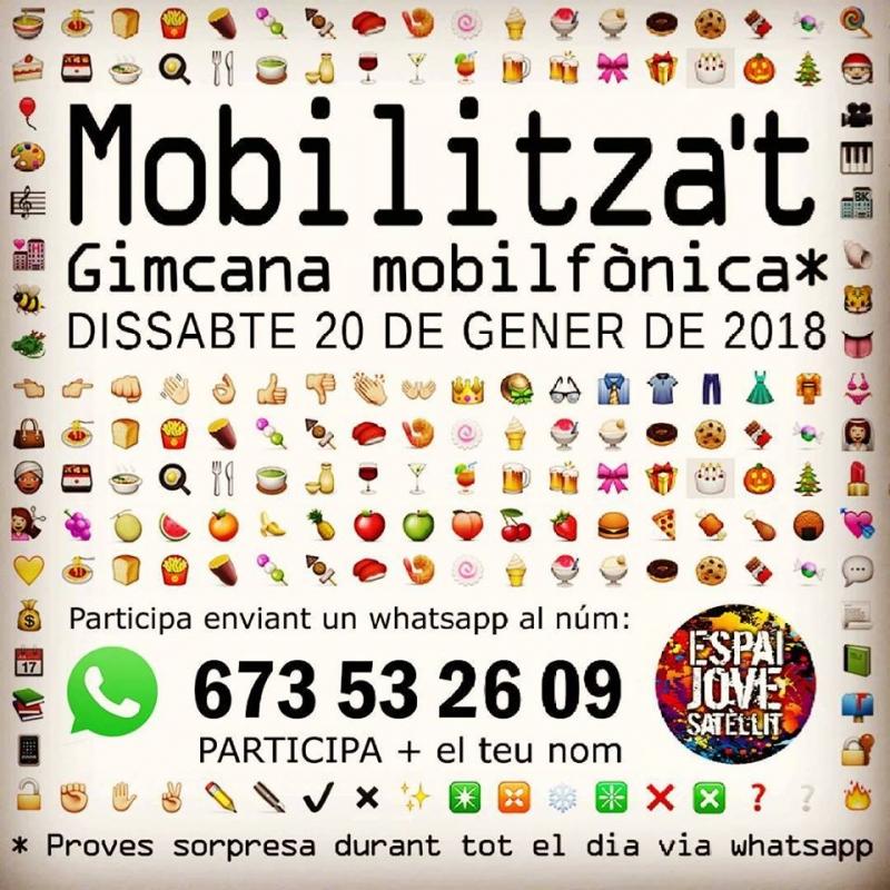 Cartell Gimcana Mobilitza't 2018