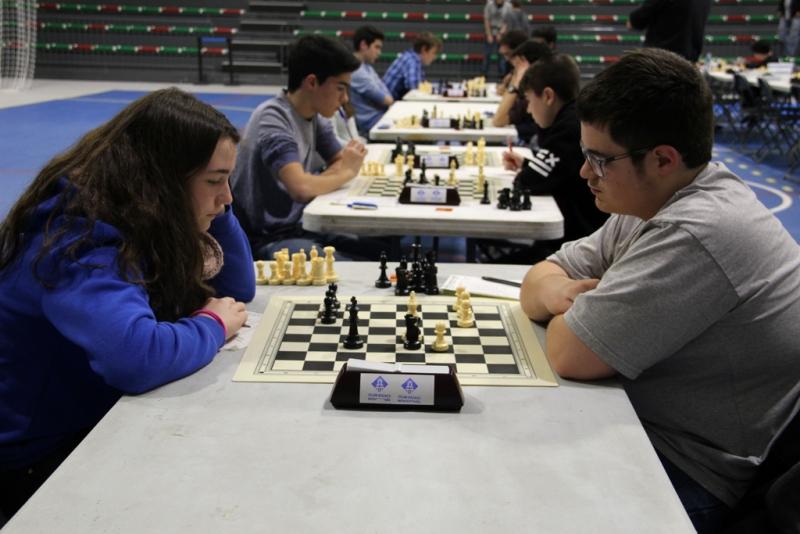 Campionat Comarcal Escolar d'Escacs a la carpa polivalent El Sorralet