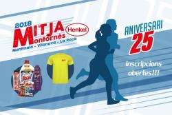 Inscripcions obertes 25a Mitja Marató Montornès-Montmeló-Vilanova-La Roca (Font: mitjamontornes.com)