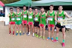 L'equip masculí de cros del Club Atletisme Montornès (Foto: CA Montornès)