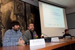 El regidor d'Ocupació, Promoció Econòmica i Comerç, Jordi Delgado i l'alcalde, José A. Montero