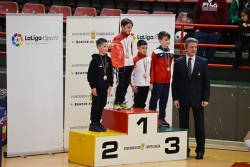 Podi d'Usama Karach, subcampió de la categoria infantil de kata (Foto: Club Karate Montornès)