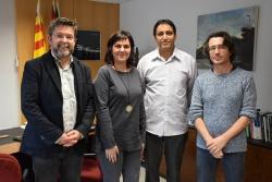 D'esquerra a dreta, José A. Montero, Mah Iahdih Nan, Helena Ollé i el te`cnic de Cooperació Internacional, Marc Colàs