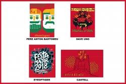 Dissenys finalistes del Concurs de disseny de la imatge de Festa Major 2018