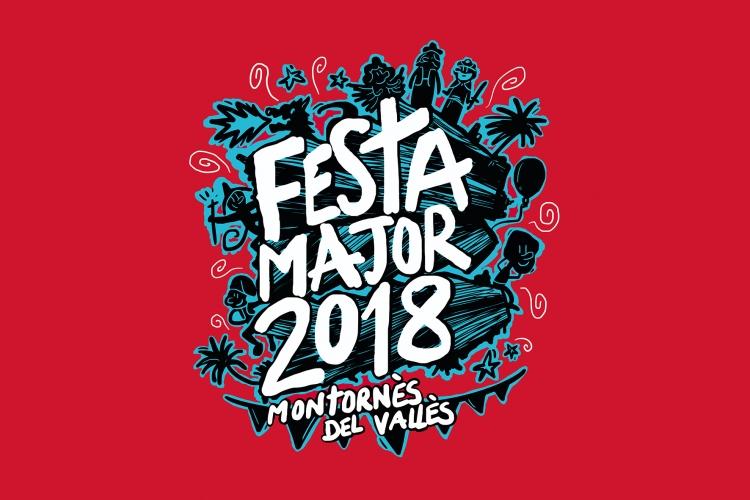 Disseny guanyador del Concurs de la Imatge de la Festa Major 2018. Autor: Ivan Montllor