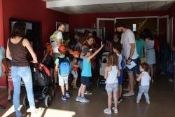 A punt per entrar al primer dia del Casal esportiu al CEM Les Vernedes
