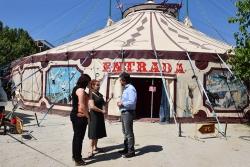 L'alcalde i la regidora de cultura amb Luisa Raluy