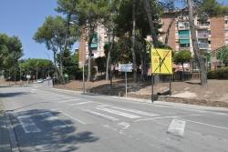 Intersecció entre el carrer de la Llibertat i el carrer de les Tres Creus