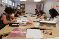 Classe d'un dels cursos de català (Imatge: Oficina de Català de Montornès)