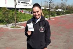 Maria López a les Series A de karate a Xile (Font: Club Karate Montornès)