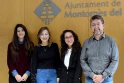 Les joves del Programa de Garantia Juvenil amb l'alcalde, José A. Montero