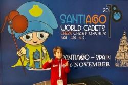 Àlex Villa al Mundial d'Escacs de Joves (Font: Club d'Escacs Montornès)
